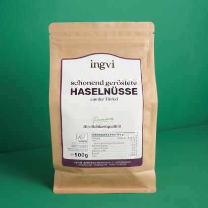 ingvi Haselnüsse, schonend geröstet, Bio, 500g