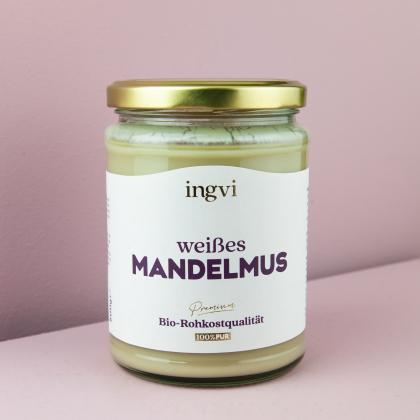 ingvi Mandelmus weiß, Rohkostqualität, Bio 500g