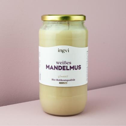 ingvi Mandelmus weiß, Rohkostqualität, Bio 1000g