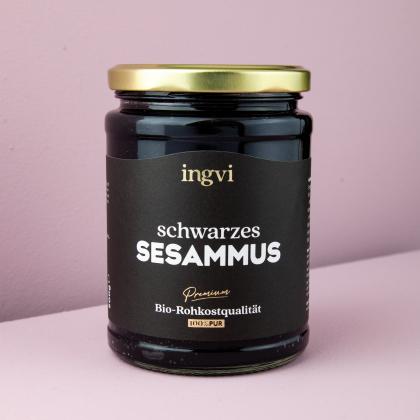 ingvi Sesammus schwarz, Tahin, Rohkostqualität, Bio 500g
