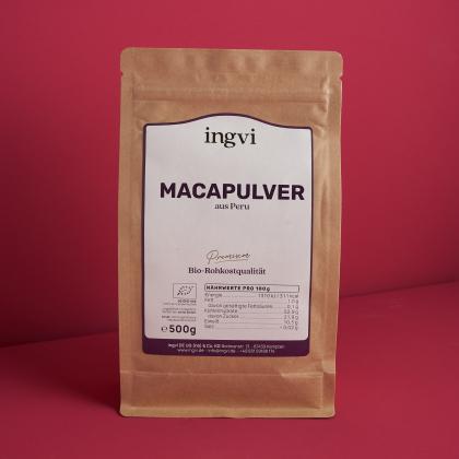 ingvi Macapulver, Rohkostqualität, Bio, 500g