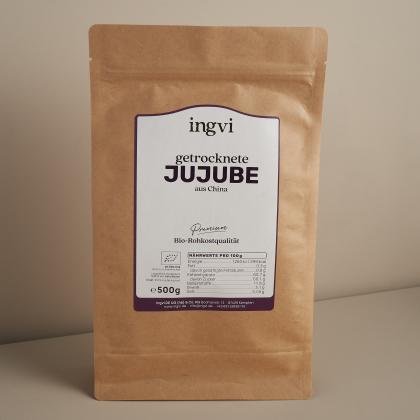 ingvi Jujube getrocknet Rohkostqualität, Bio 500g