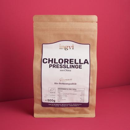 ingvi Chlorella Presslinge, Rohkostqualität, Bio 500g