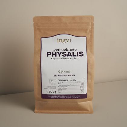 ingvi Physalis getrocknet, Rohkostqualität, Bio 500g