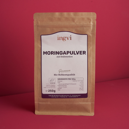 ingvi Moringa Oleifera Pulver, Rohkostqualität, Bio, 250g