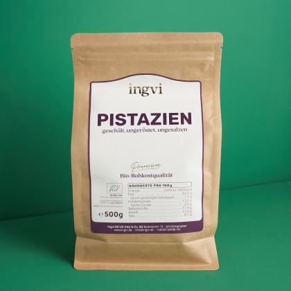 ingvi Pistazien ohne Schale, Rohkostqualität Bio 500g