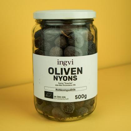 ingvi Oliven Nyons, Rohkostqualität, Bio, 500g