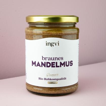 ingvi Mandelmus braun, Rohkostqualität, Bio