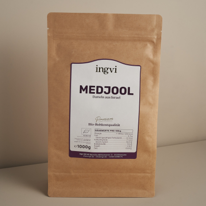ingvi Medjool Datteln Class 1 Premium, Rohkostqualität Bio 1000g