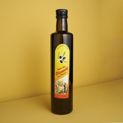 Olivenöl Wildwuchs, Rohkostqualität, Bio 0,5l