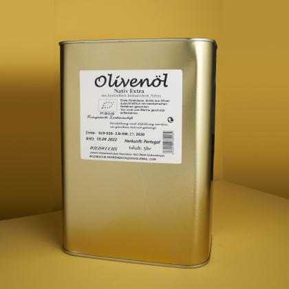Olivenöl Wildwuchs, Rohkostqualität, Bio 5l